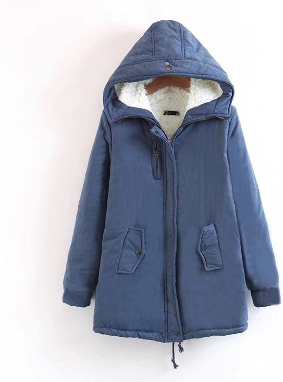 FashionLee Winter Fashion Woolen Hoodie Coat Women