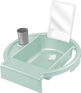 Rotho Babydesign Lavabo pour Enfants Kiddy Wash, À fixer sur le bord de la baignoire, 38,7 x 38,2 x 10 cm, Swedish Green (...