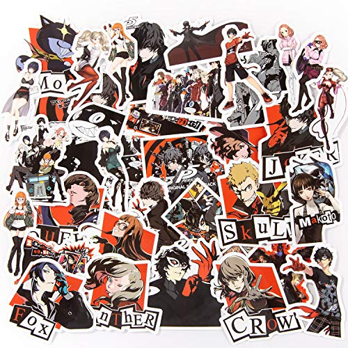 Persona 5 Stickers,35 Pcs Vinyl Waterproof Anime Stikcers for Bottle,Laptop (2.5 in)