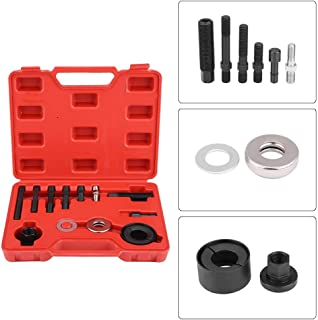 Qiilu Pulley Puller Remover Installer Set Compatible with GM Chrysler Ford Power Steering Alternators 12pc