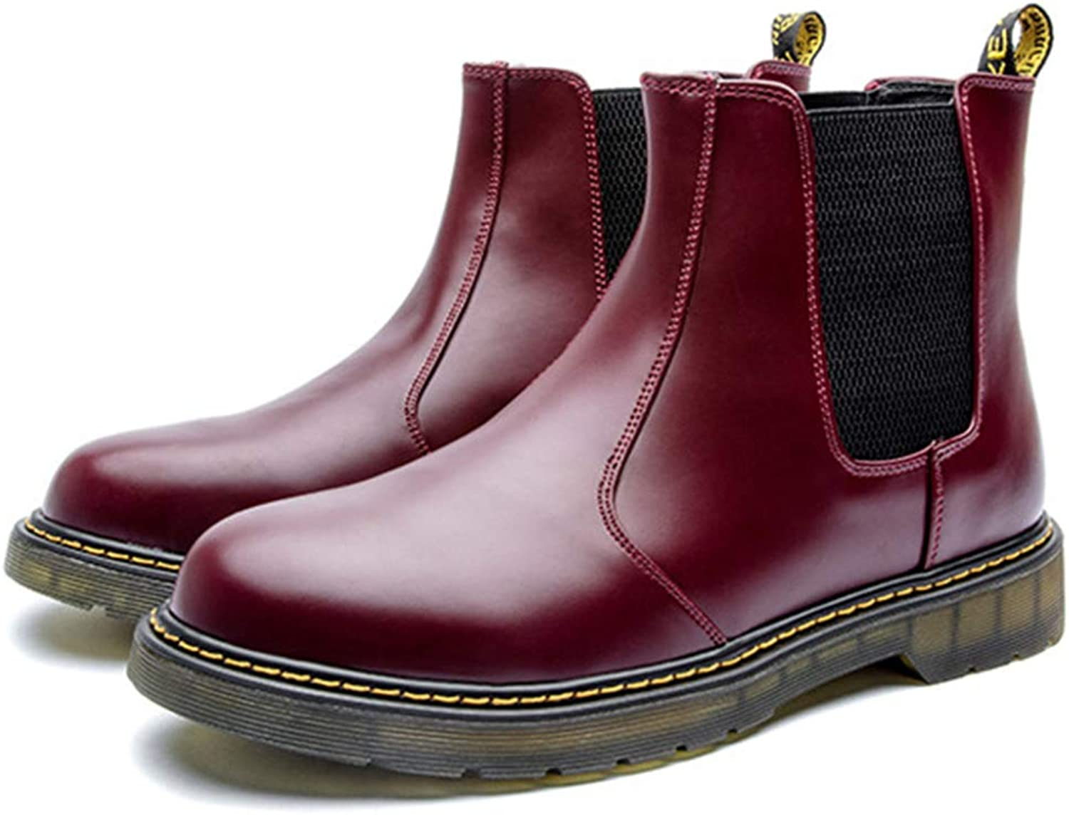 Men'S Chelsea Boots Martin Boots Oxford Ankle Boots Leather Outdoor Desert Boots Hiking Riding Boots