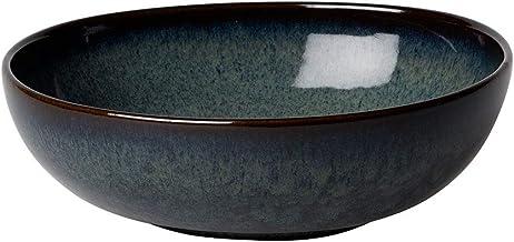 Villeroy & Boch Lave Gris Bol schaal, 600 ml tot de rand gemeten, aardewerk, grijs