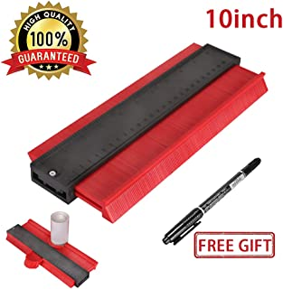Master Outline Gauge Contour Gauge Duplicator 10 Inch Shape Duplicator General Tools,Shaping Measure Ruler, Woodworking Shape Tracing Template, Craft Profile Jig Guide,Super Smart Tools(Red)