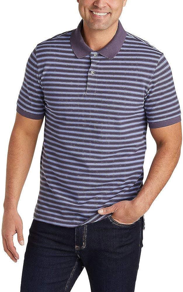 Stripe Eddie Bauer Mens Field Pro Short-Sleeve Polo Shirt