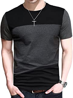 FRTCV Mens Short Sleeve T-Shirt Casual Tops Tee Classic Fit Basic Shirts