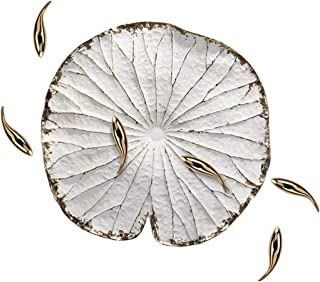 Wall Decoration New Chinese-style Living Room Three-dimensional Lotus Leaf Decorations, Small Fish Pendant On The Backgrou...