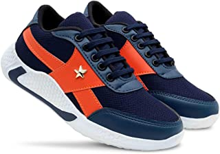 SportX Boys Synthetic Mesh Casual Sports Shoes- (UK2-UK5)