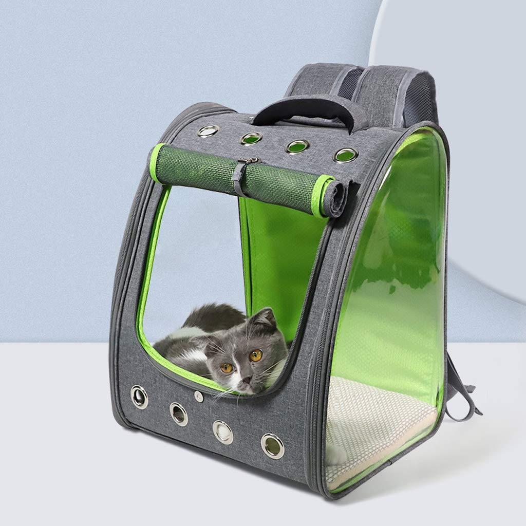 JYZT Caja De Viaje De PVC Transparente para Mascotas Portátil Gatos Perros Caja De Transporte Persiana Enrollable Plegable Transportín Perro Gato Verde Oscuro 34 × 32 × 43cm: Amazon.es: Hogar