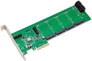 Syba 4 mSATA Slot or 4 Port SATA III PCI-e 2.0 x4 HyperDuo RAID Hard Drive Controller Card Marvell 9230 Chipset