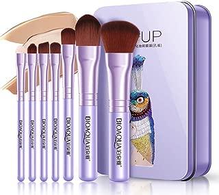 GothicBride Makeup Brushes Set Elegant Purple Premium Makeup Brush Set Synthetic Foundation Powder Concealers Eye Shadows Kabuki Travel Foundation 7Pcs Brush Sets