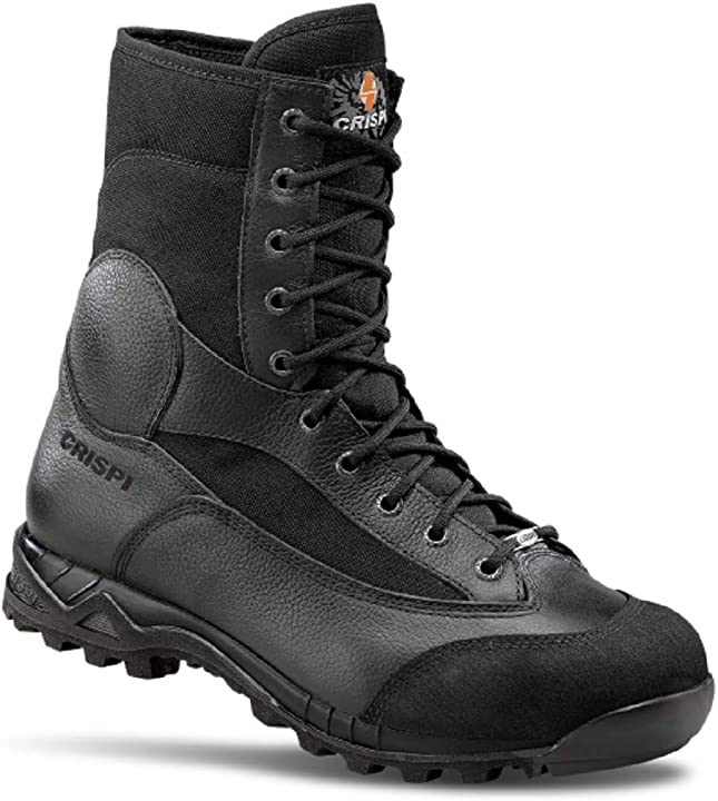 Anfibi militari scarponi esercito italiano softair da uomo neri tattici crispi B01FR5K0H0