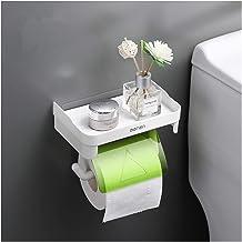 Wall Mount Roll Paper opslag Rack Waterproof toiletrolhouder Rack Badkamer Multifunctionele Planken (Color : Green)