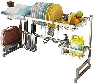 Égouttoir à vaisselle sur évier, étagère d'égouttement pour organisateur de rangement de fournitures de cuisine, baguettes...