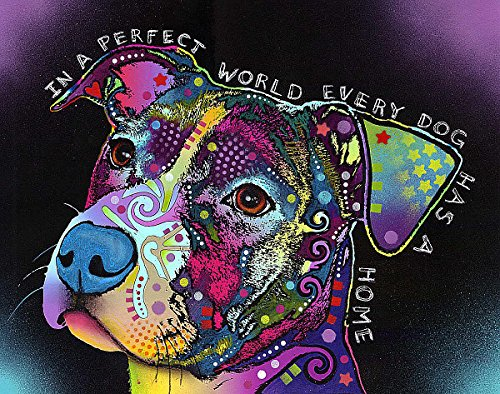Picture Peddler In a Perfect World Pitbull a Fine Art Print by Dean Russo, Image Size: 11x14, Overall Size: 13x16