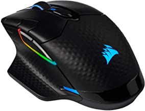 Corsair Dark Core RGB Pro SE, Wireless FPS/MOBA Gaming Mouse with Slipstream Technology, Black, Backlit RGB LED, 18000 DPI, Optical, Qi Wireless Charging Certified