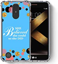 for LG K20 Plus Case, LG K20 V Case, LG Harmony Case, LG K10 2017 Case, SuperbBeast Ultra Slim Thin Protective Case w/Reinforced Corners Vector Floral Flowers Polka Dots [Glitter Pattern]