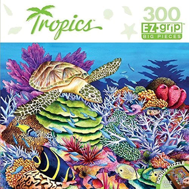 Masterpieces Tropics EZ Grip Sea Turtle Cove Puzzle (300 Piece) by MasterPieces