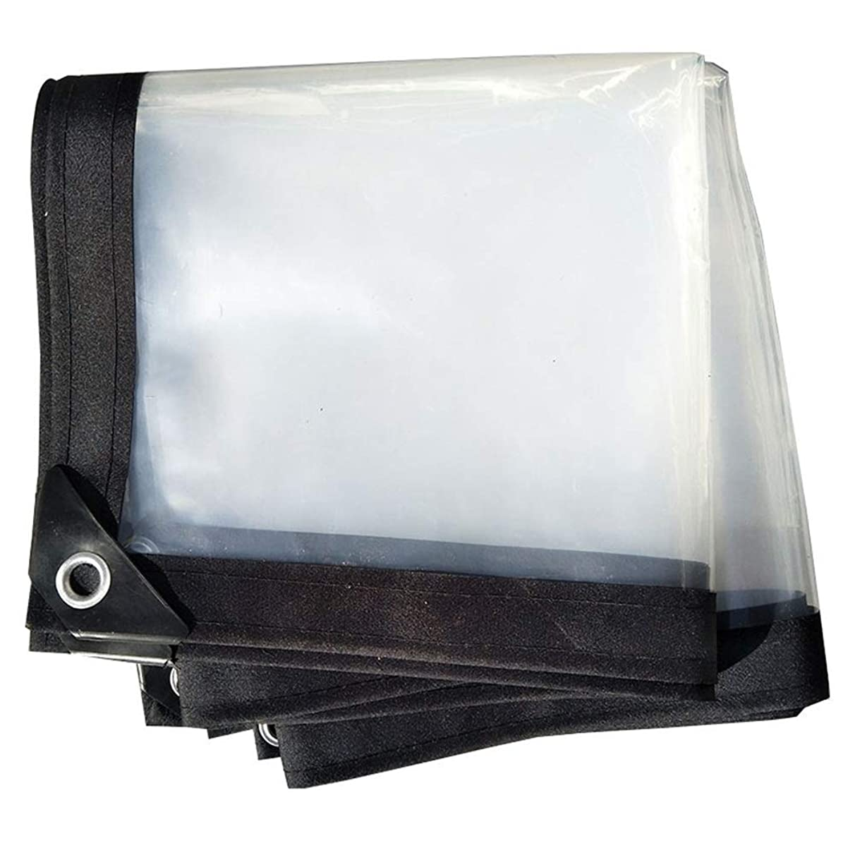 Shade Net/Sunscreen Tarpaulin Waterproof Heavy Duty Carport Rainproof Cloth Balcony Dust-Proof Windproof Film, Multiple Sizes Available, WenMing Yue, Clear, 4x5M