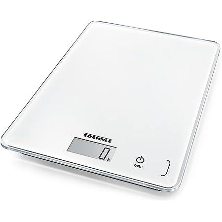 Soehnle Page Compact 300, balance de cuisine multifonctions compacte & élégante, balance alimentaire de haute précision, pèse aliment jusqu'à 5 kg