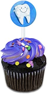 Happy Tooth Dentist Cake Cupcake Toppers Picks Set