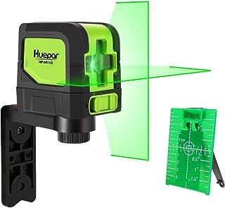 Huepar Cross Line Laser – DIY Self-Leveling Green Beam Horizontal and Vertical Line..