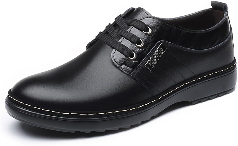 JIALUN-Schuhe Mode Mode Mode Herren Casual Business Schuhe Matte Echtem Leder Oberen Lace Up Atmungsaktiv Gefüttert Oxfords (Farbe   Schwarz, Größe   42 EU) f7f6cb