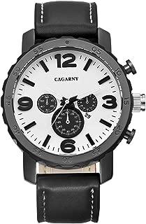 Fashion Watches 6845 Fashion Dual Quartz Movement Wrist Watch with Leather Band