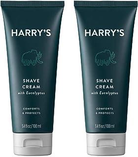 Harry's Shaving Cream - Shaving Cream for Men with Eucalyptus - 2 pack (3.4 oz)