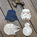 Set of 4 Wood Coasters - Star Wars Collection