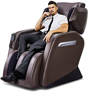 Tinycooper Massage Chairs by Ootori Full Body and Recliner, Zero Gravity Full Body Massage Chair, Full Body Massage Chair with Lower-Back and Calve Heating and Foot Roller Brown