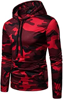Mens Shirts Clearance Charberry Long Sleeve Autumn Casual Camouflage Pullover Sweatshirt Hoodie Coat Top