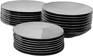 ProCook Del Mar - Service de Table en Porcelaine - 24 Pièces/8 Personnes - Grande Assiette Plate/Assiette à Dessert/Assiet...
