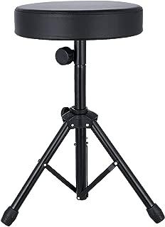 Noeler Universal Drum Throne Stool adjustable Metal Professional Drum Seat Sponge Padded for Kids&Adult with anti-slip feet
