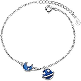 Sukkhi Crystals from Swarovski Platinum Plated Sun and Moon Bracelet for Women and Girls (BC80849)
