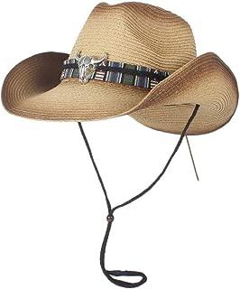 Sun Hat for men and women Summer Fashion Womem Men Female Male's Strew 100% Western Cowboy Hat Panama Hat Wide Brim Cowgirl Cow Head Leather Band