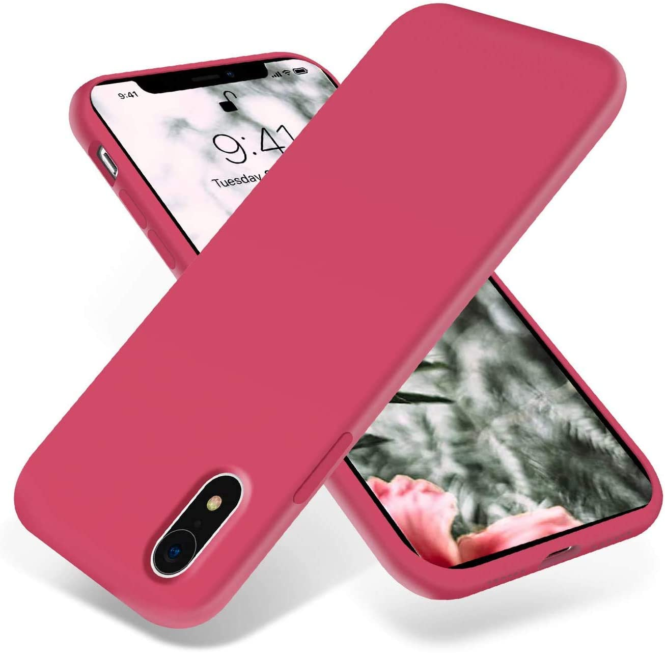 iPhone XR Case, NYGSM Soft Silicone Rubber Bumper Phone Case with Anti-Scratch Microfiber Lining Hard Shell Shockproof Full-Body Protective Case Cover for iPhone XR 6.1