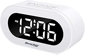 REACHER Small LED Digital Alarm Clock with Snooze, Simple to Operate, Full Range..