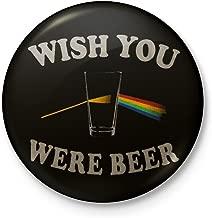 Wish You Were Beer - Pink Floyd Mashup Fridge Magnet - Circular (6 cm diameter)