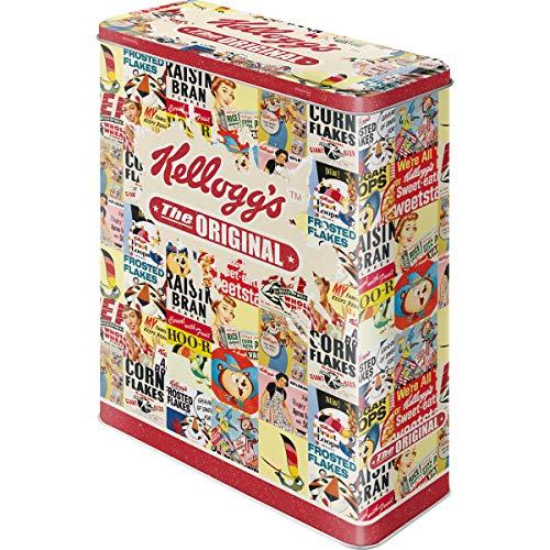 Nostalgic-Art Caja de Almacenamiento Retro XL Kellogg's – Original Collage – Idea de Regalo para Cocina, Lata Grande de Cereales, Diseño Vintage, 4 l