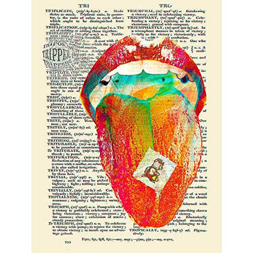 Wee Blue Coo Tripper Acid Lsd Dictionary Page Art Print Poster Wall Decor 12X16 Inch