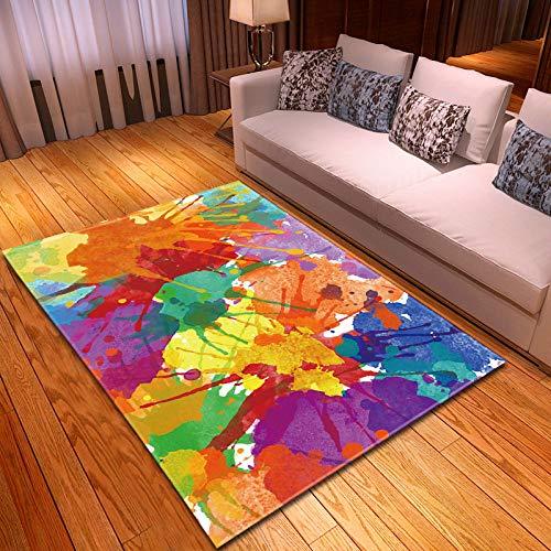 Grote tapijten voor woonkamer, slaapkamer, binnen antislip, zacht, gezellig tapijt, abstracte kleur, graffiti, 3-D-print, anti-slip, klaslokaal, rechthoekige deurmatten, woondecoratie 120×180cm(48×72inch) zoals getoond
