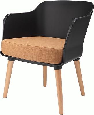 Amazon.com: LumiSource Chair in Walnut and Light Gray ...