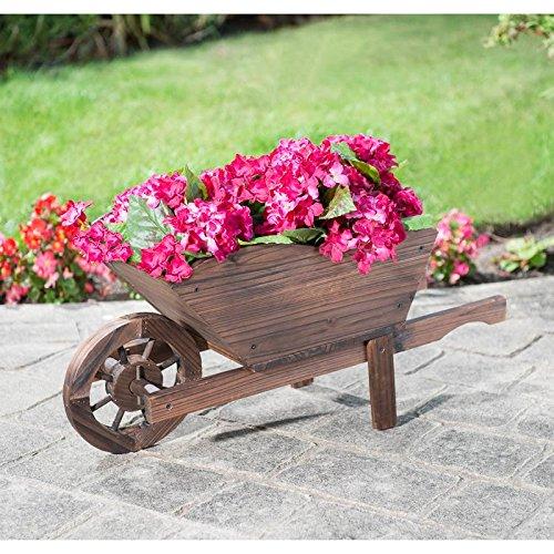 Mason & Jones Of Great Britain Outdoor Garden Burntwood Wheelbarrow Planter