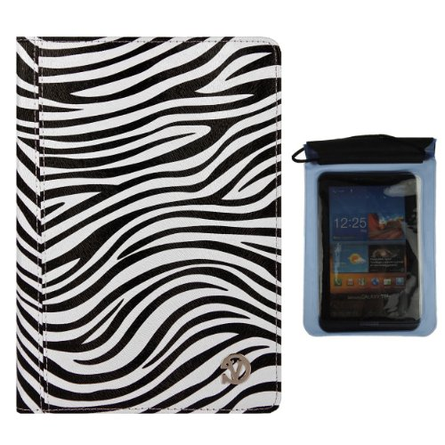 Mary Cover Portfolio Travel Case for Acer Iconia B B1 720, B1 A71, B1 710, B1 7 inch Tablet and Blue Waterproof Sleeve
