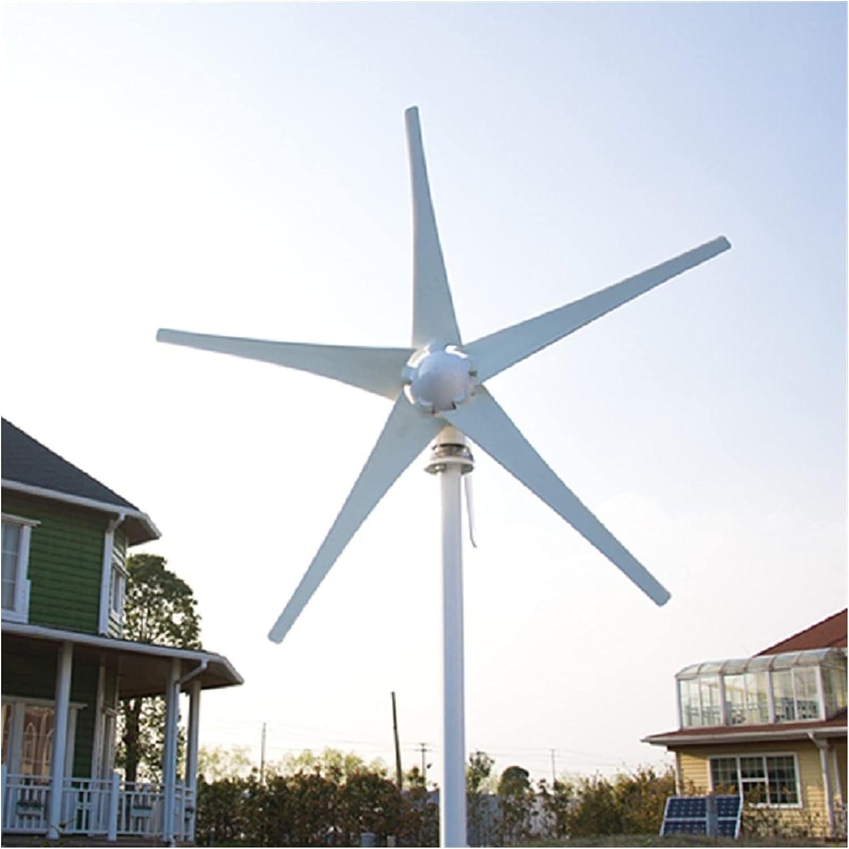 LTH-GD Turbina de Viento al Aire Libre Generador de energía de la turbina eólica 800W 6 Cuchillas 12V / 24V Opcional usadas para la Tierra Marina Turbinas de Viento