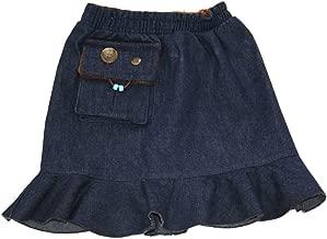 Kozie Clothes Girls' Elastic Waist Denim Compression Sensory Skirt/Skort