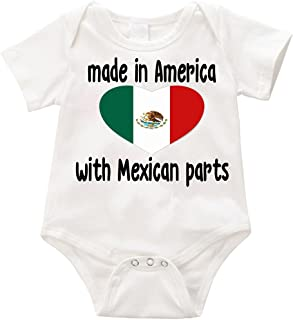made in america with mexican parts onesie