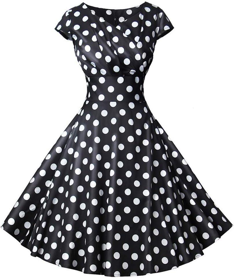 Dress,Women's Cocktail Nippon regular agency Formal Swing Short Dress Sleeve Dot NEW before selling ☆