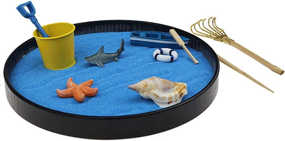 Zen Garden Max 75% OFF Kit Sea World Tray Sand Pl Sandbox 2021 model