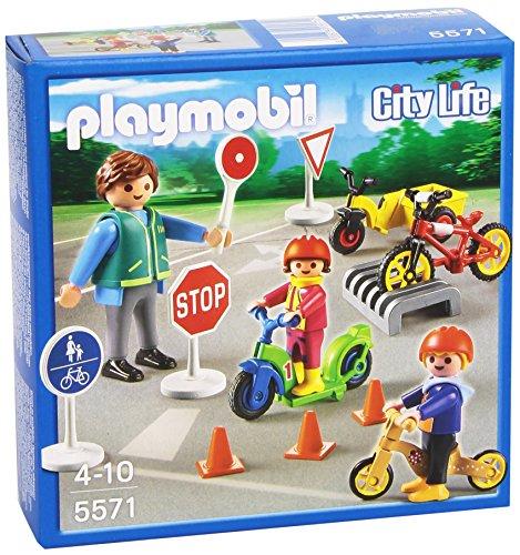 Playmobil - 5571 - Figurine Transport Et Circulation - Enfants avec Agent De Sécurité Routière